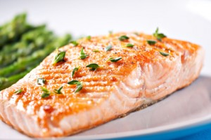 cooked salmon pink