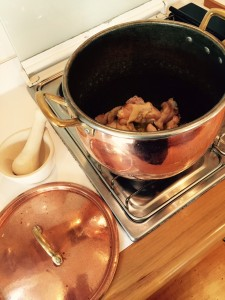 Searing in Copper Pot