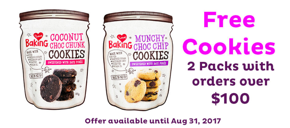 Free Cookies When You Spend $100